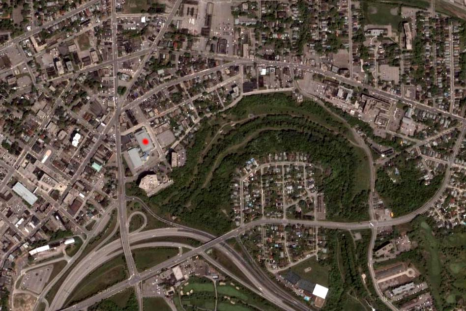 Niagara IceDogs home arena from Google sat.
