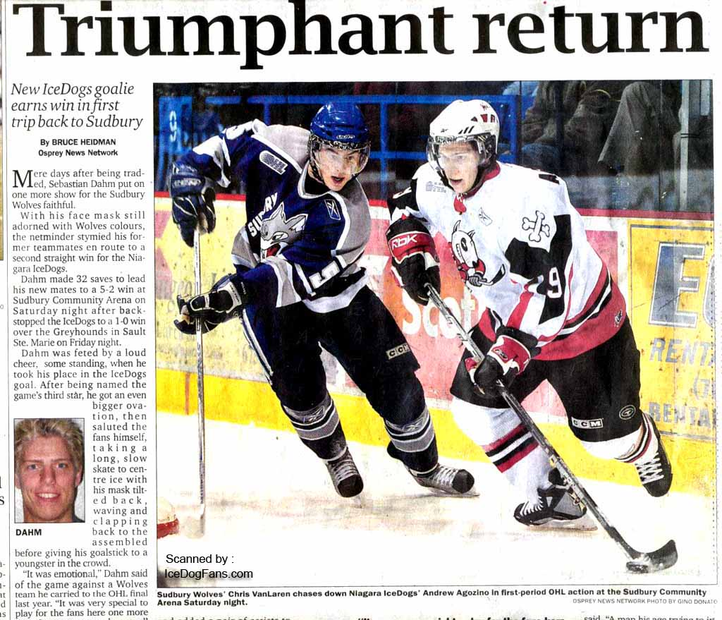 Niagara IceDogs Latest News previous news